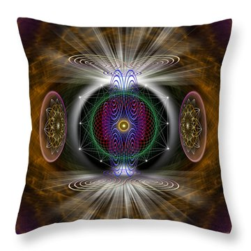 Throw Pillow featuring the photograph Sacred Geometry 423 by Endre Balogh