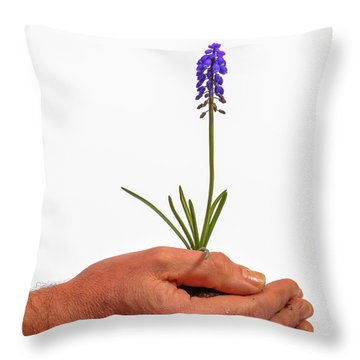 Safely Growing Throw Pillow