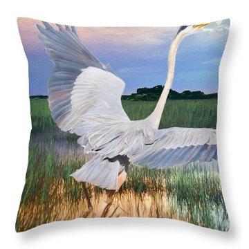 Sail Into Sunset Throw Pillow