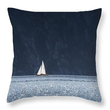 Throw Pillow featuring the photograph Sailboat by Chevy Fleet