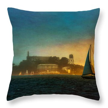 Sailing By Throw Pillow