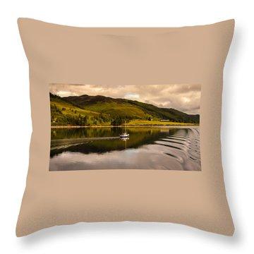 Sailing In Scotland Throw Pillow
