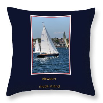 Sailing Newport Throw Pillow