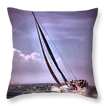 Sailing To Nantucket 003 Throw Pillow