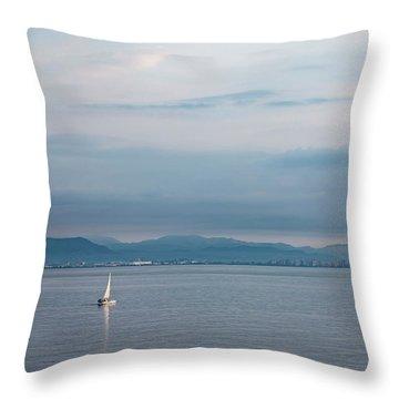 Sailing To Shore Throw Pillow
