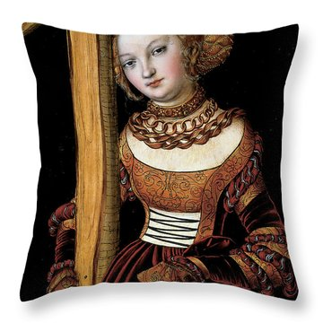 Saint Helena With The Cross Throw Pillow