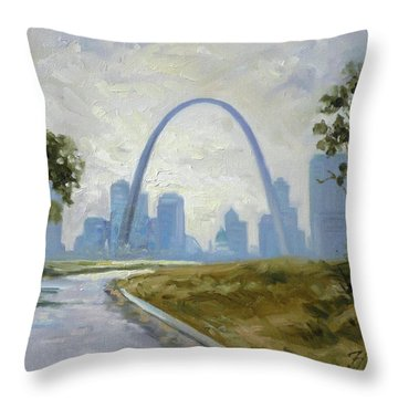 Saint Louis Panorama Throw Pillow