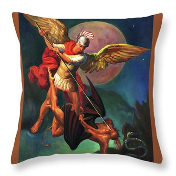 Saint Michael The Warrior Archangel Throw Pillow