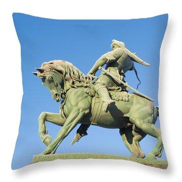 Throw Pillow featuring the photograph Salavat Yulaev Ufa Russian Hero by John Williams