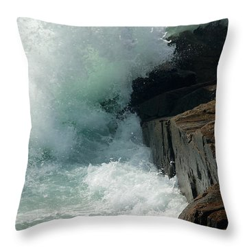 Salty Froth Throw Pillow