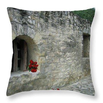 San Antonio Rose Throw Pillow