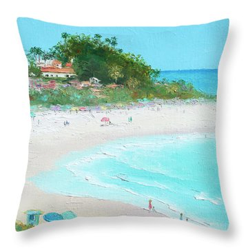 San Clemente Beach California Throw Pillow by Jan Matson