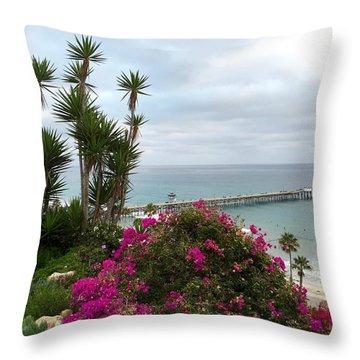San Clemente Pier Throw Pillow
