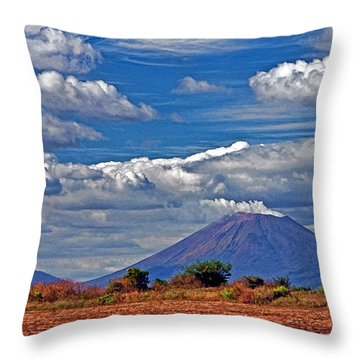 Throw Pillow featuring the photograph San Cristobal Volcano by Dennis Cox WorldViews