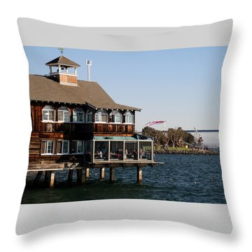 San Diego Bay Throw Pillow by Christopher Woods