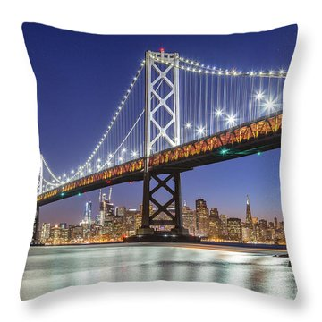 San Francisco City Lights Throw Pillow by JR Photography