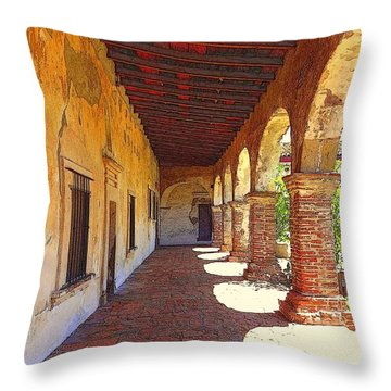 San Juan Capistrano Throw Pillow