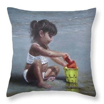 Sand Castles II Throw Pillow