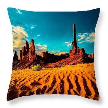 Sand Dune Throw Pillow