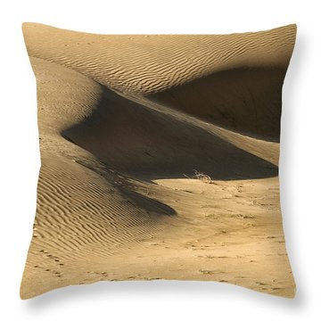 Throw Pillow featuring the photograph Sand Dune by Yew Kwang