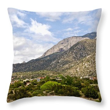 Throw Pillow featuring the photograph Sandia Mountains by Gina Savage