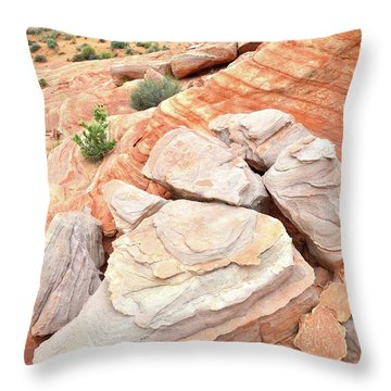 Throw Pillow featuring the photograph Sandstone Cove In Valley Of Fire by Ray Mathis