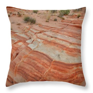 Throw Pillow featuring the photograph Sandstone Stripes In Valley Of Fire by Ray Mathis