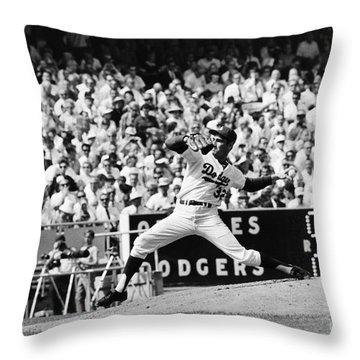 Sandy Koufax (1935- ) Throw Pillow