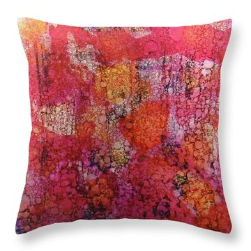 Throw Pillow featuring the painting Sangria Ink #16 by Sarajane Helm