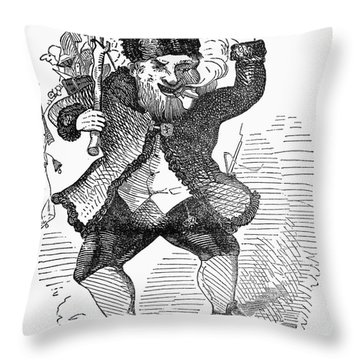 Santa Claus, 1849 Throw Pillow by Granger
