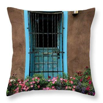 Santa Fe Door #1 Throw Pillow