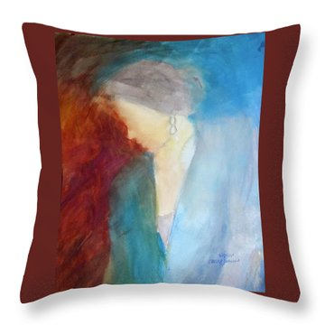 Sarah's Blue Suit Throw Pillow