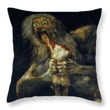 Saturn Devouring His Son Throw Pillow