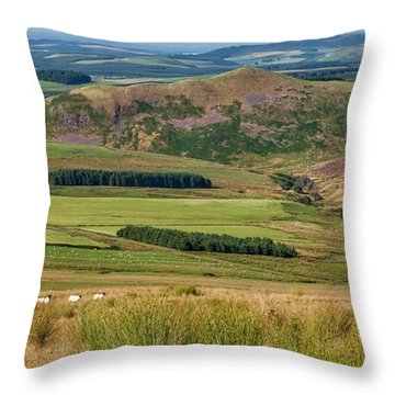 Scotland View From The English Borders Throw Pillow