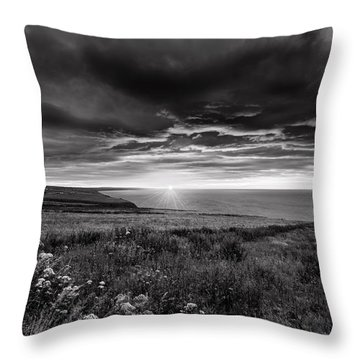Scottish Sunrise Throw Pillow by Jeremy Lavender Photography