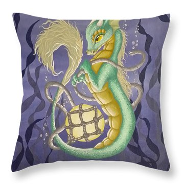 Sea Dragon II Throw Pillow