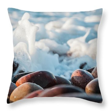 Sea As Art... Throw Pillow by Sergey Simanovsky