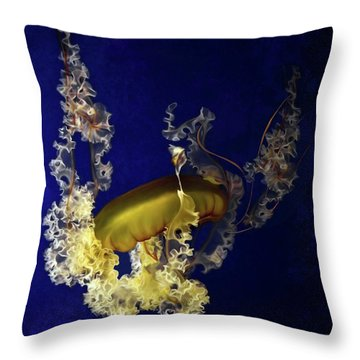 Sea Nettle Jellies Throw Pillow