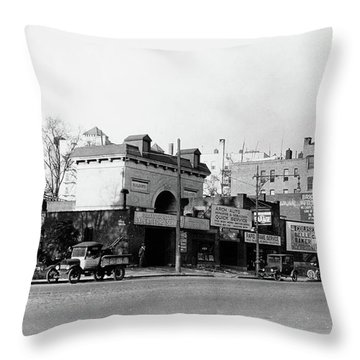 Throw Pillow featuring the photograph Seaman Drake Arch  by Cole Thompson