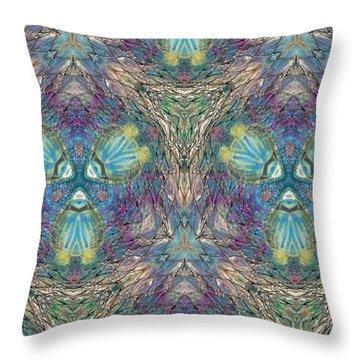Seascape I Throw Pillow by Maria Watt