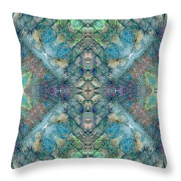 Seascape II Throw Pillow by Maria Watt