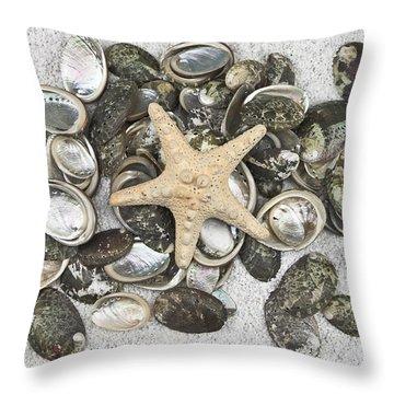 Seashells Throw Pillow by Joana Kruse