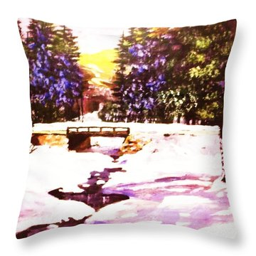 Throw Pillow featuring the painting Seasonal  Change by Al Brown
