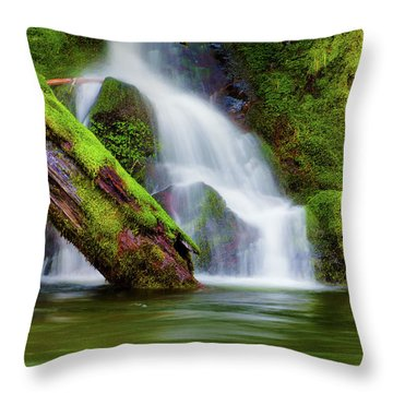 Whte Cascade Throw Pillow
