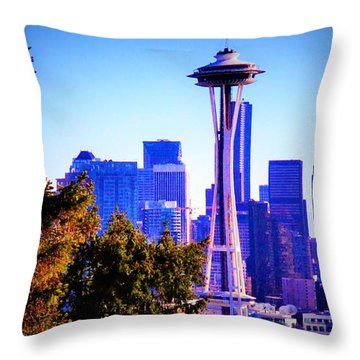 Seattle Afternoon Throw Pillow by Martin Cline