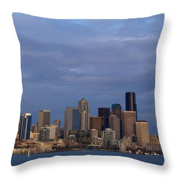 Throw Pillow featuring the photograph Seattle by Evgeny Vasenev