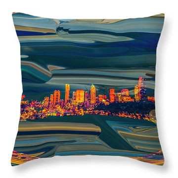 Seattle Swirl Throw Pillow by Dale Stillman