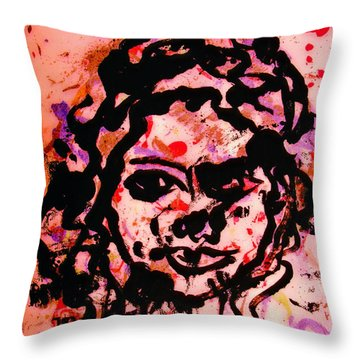 Self Portrait Throw Pillow by Natalie Holland