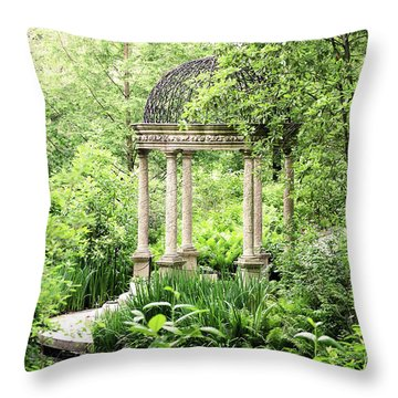Serenity Garden Throw Pillow