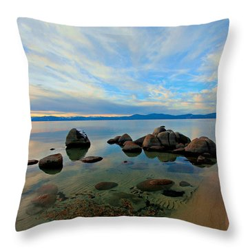 Serenity  Throw Pillow by Sean Sarsfield